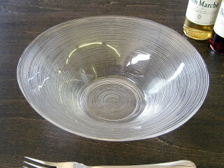 細いラインがお洒落なガラス食器イマージュ深ボール19.5cm[ボウル]