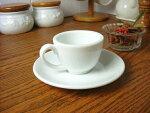 白い食器フォンテエスプレッソカップ&ソーサー(小)[コーヒーカップ/ティーカップ/碗皿][業務用]