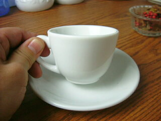 白い食器フォンテエスプレッソカップ&ソーサー[コーヒーカップ/ティーカップ/碗皿][業務用]