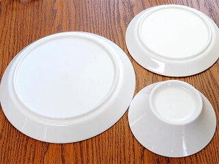 スプラウトプレート・ボウルペアセット[白い食器新生活セット食器セット丸皿小鉢洋食器]