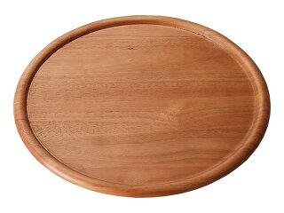 ライトブラウン33cmラウンドプレート[木製ピザプレート大皿]