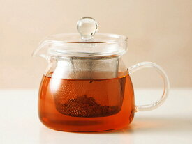 耐熱ガラス お茶ポット 450 [ ティーポット 茶こし付き 急須 軽量 ]