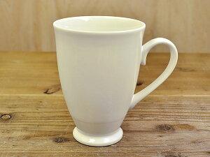 脚付き マグカップ 白 [ 軽め おしゃれ 陶器(磁器製) 日本製 ]