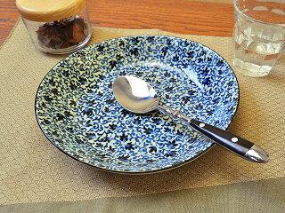 益子唐草7.0楕円浅鉢[カレー皿パスタ皿日本製][価格別食器市][あす楽対応]