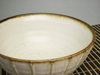 和食器縞一珍丼白釉[どんぶり/うどん/ラーメン][価格別食器市]