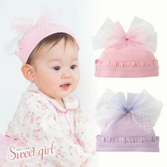 到时分有Sweetgirl*惠特女孩子邱尔蝴蝶结新生儿帽子婴儿新生儿~6个月的帽子