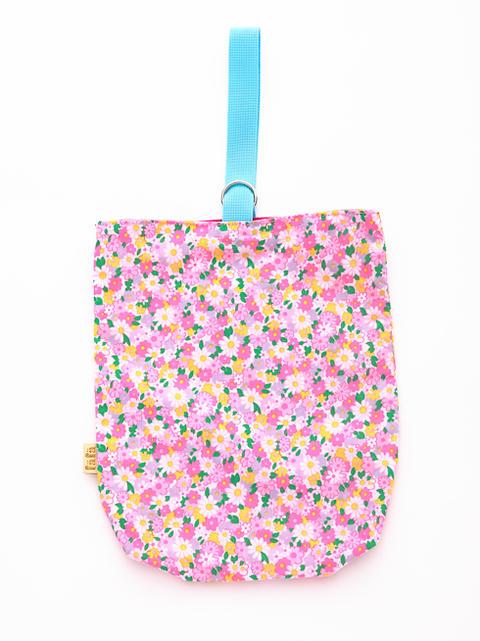 ♪新作商品♪【fafaフェフェ】GOGO お花総柄 シューズポーチ 上履き入れ B PINK