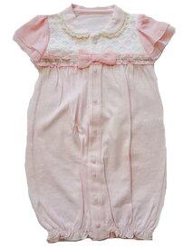 新生児フォーマルツーウェイオール女の子用ドレス チュール&リボン付き カバーオール 50-60cm
