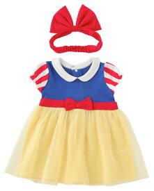 白雪姫ワンピース ヘアバンド付き80cm90cm ハロウィーン仮装ベビー服 子供 なりきりセット コスプレ 仮装 衣装 プリンセス ドレス 女の子