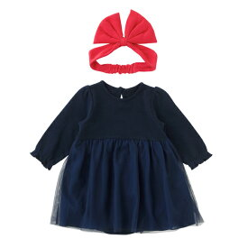 魔女っ子セット ベビーなりきりワンピース ヘアバンド付き80cm90cm ハロウィーン 仮装ベビー服 子供 ドレス 女の子