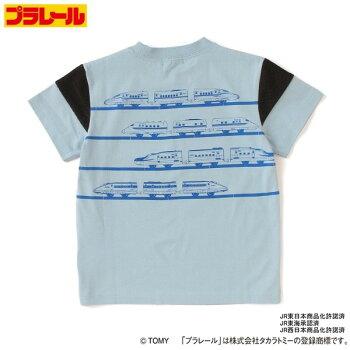 kladskapクレードスコープ×プラレールコラボ2021年春夏新幹線プリント半袖Tシャツ90cm100cm110cm120cm吸水速乾接触冷感