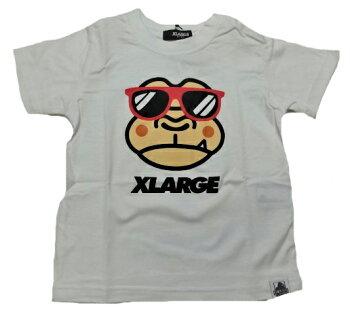 XLARGEKIDS(エクストララージキッズ)サングラスゴリラプリント半袖Tシャツ90cm100cm110cm120cm130cm140cmX-LARGEKIDSキッズ子供服男児