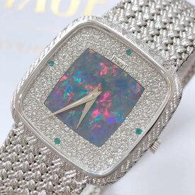 ☆【中古】PIAGET ピアジェ オリジナルダイヤモンド オパール エメラルド 手巻き 腕時計 約108.1g