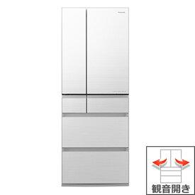 (長期無料保証/配送設置無料)パナソニック 冷蔵庫 NR-F556WPX-W フロスティロイヤルホワイト(フロスト加工) 観音開き 内容量:550リットル