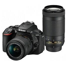 (アウトレット)ニコン 一眼レフカメラ 2本レンズキット(標準ズーム+望遠ズーム) D5600WZ