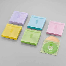 エレコム Blu−ray対応不織布/カード付/240枚 CCD-NIWB240ASO アソートカラー(ブルー/グリーン/イエロー/パープル/ピンク)