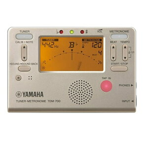 ヤマハ メトロノームチューナー TDM-700G ゴールド