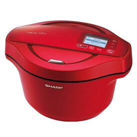 シャープ 水なし自動調理鍋 KN-HW24E-R レッド系 調理容量:2.4リットル
