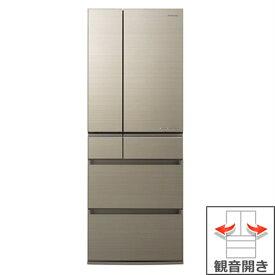 (長期無料保証/配送設置無料)パナソニック 冷蔵庫 NR-F555HPX-N アルベロゴールド 観音開き 内容量:550リットル