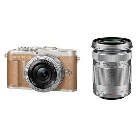 オリンパス 小型一眼カメラ 2本レンズキット(電動ズーム+望遠) 4K PEN(ペン) PEN E-PL9 EZダブルズームキット BRW ブラウン