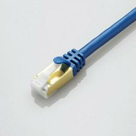 エレコム LANケーブル/CAT7/爪折れ防止 LD-TWST/BM05 ブルーメタリック 0.5m