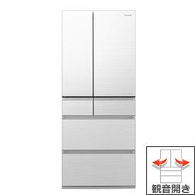 (長期無料保証/配送設置無料)パナソニック 冷蔵庫 NR-F656WPX-W フロスティロイヤルホワイト(フロスト加工) 観音開き 内容量:650リットル