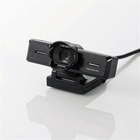 エレコム PCカメラ/800万画素/マイク内蔵/レンズフード付 UCAM-C980FBBK ブラック