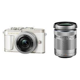 (アウトレット)オリンパス 小型一眼カメラ 2本レンズキット(電動ズーム+望遠) 4K PEN(ペン) PEN E-PL9 EZダブルズームキット WHT ホワイト