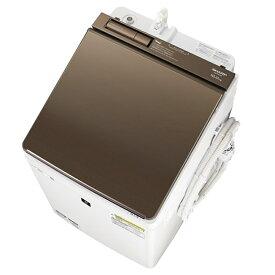 (長期無料保証/配送設置無料)シャープ たて型洗濯乾燥機 ES-PW10E-T ブラウン系 洗濯/乾燥容量:10.0/5.0kg