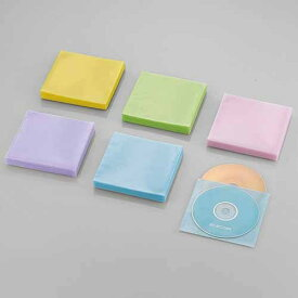 エレコム Blu−ray対応不織布/120枚 CCD-NWB120ASO アソートカラー(ブルー/グリーン/イエロー/パープル/ピンク)