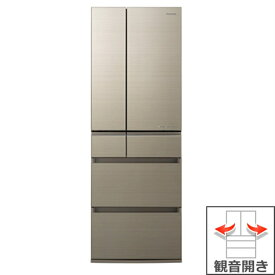 (長期無料保証/配送設置無料)パナソニック 冷蔵庫 NR-F505HPX-N アルベロゴールド 観音開き 内容量:500リットル