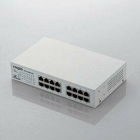 エレコム Giga対応Hub/16ポート/メタル EHC-G16MN-HJW メタル(ホワイト)