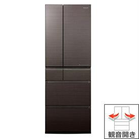 (長期無料保証/配送設置無料)パナソニック 冷蔵庫 NR-F505HPX-T アルベロダークブラウン 観音開き 内容量:500リットル