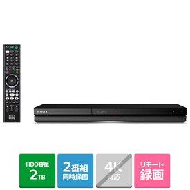 (長期無料保証)ソニー BDレコーダー/2チューナー/2TB BDZ-ZW2700 HDD:2TB