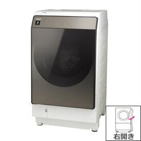 (長期無料保証/配送設置無料)シャープ ドラム式洗濯乾燥機 ES-WS13-TR ブラウン系 右開き 洗濯/乾燥容量:11.0/6.0kg