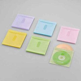 エレコム Blu−ray対応不織布/カード付/60枚 CCD-NIWB60ASO アソートカラー(ブルー/グリーン/イエロー/パープル/ピンク)