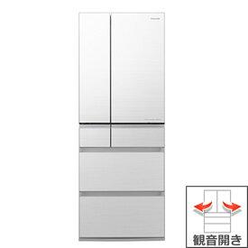 (長期無料保証/配送設置無料)パナソニック 冷蔵庫 NR-F606WPX-W フロスティロイヤルホワイト(フロスト加工) 観音開き 内容量:600リットル