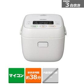 ハイアール 3合マイコン炊飯器 JJ-M32A(W) ホワイト 炊飯容量:3合