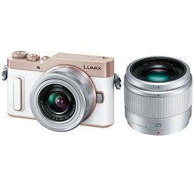 パナソニック 小型一眼カメラ 2本レンズキット(単焦点+標準ズーム) 4K LUMIX(ルミックス) DC-GF10W-W ホワイト