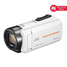 JVC 内蔵メモリー8GB GZ-F55K-W ホワイト【ケーズデンキオリジナルモデル】