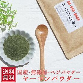 健康茶 国産 ヤーコンパウダー 40g メール便 パウダー 野菜 オリゴ糖 無添加 ベジ