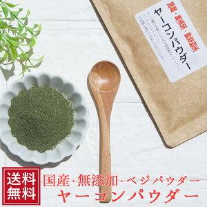 国産 ヤーコンパウダー 40g メール便 パウダー 野菜 オリゴ糖 無添加 ベジ