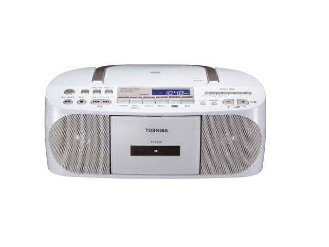 【納期約7〜10日】TY-CDH7(W) [TOSHIBA 東芝] CDラジオカセットレコーダー CUTEBEAT TYCDH7(W) ホワイト