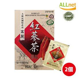 紅参茶「紙箱」100包入×2箱セット 韓国お茶 健康茶 伝統茶 韓国飲み物 韓国食品 風邪予防対策 GIFT ギフト
