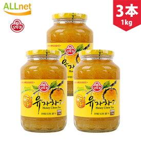 【まとめてお得】【送料無料】オットギ三和 \3個セット/サンファ 柚子茶 1Kg 韓国食品 蜂蜜ゆず茶