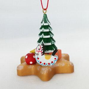 CHRISTIAN ULBRICHT/ウルブリヒト☆オーナメント☆ジンジャークッキーとおもちゃドイツの木工芸品 クリスマスツリー 装飾 ザイフェン マスコット 本場 雑貨 プレゼント かわいい 贈り物 Toy on Ging