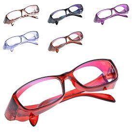 花粉メガネ 送料無料【ブルーライトカットレンズ使用・UVカット99%・花粉メガネ形状】春夏秋冬、外も内も。目の天敵をこれ一つで。新型メガネ!3WAYメガネ!定型外