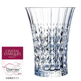 【フランス製】 12オンス タンブラー レディーダイヤモンド 360 Cristal D'Arques Paris クリスタルダルク Φ94×H129mm(360ml_12oz) AC-2823【ラッキシール対応】