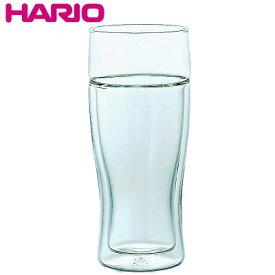 HARIO ハリオ 12オンス 耐熱ガラス ツインビアグラス Φ74×H167mm(380ml 12oz) 【食器洗浄機対応】【熱湯対応】 TBG-380【ラッキシール対応】