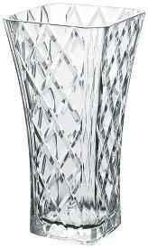 ガラス 花瓶 ガーニッシュ フラワーベース 東洋佐々木 W151×D151×H300mm P-26468-JAN【ラッキシール対応】